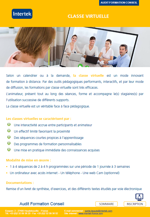 classes virtuelles Intertek